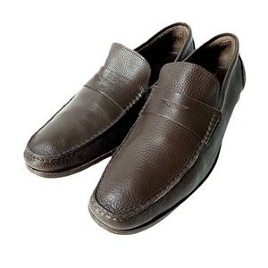 Sandrino Moscolini Brown Soft Leather Loafers